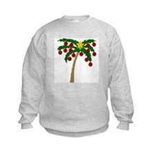 Fun Christmas Palm Tree Sweatshirt