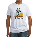Wheat Farmer Fitted T-Shirt