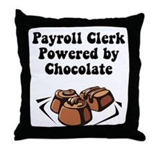 Payroll Clerk Throw Pillow