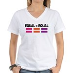Women's V-Neck Equality T-Shirt