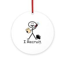 Recruiter Ornament (Round)