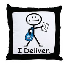 BusyBodies Mail Carrier Throw Pillow