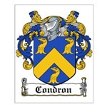 Condron Coat of Arms Small Poster