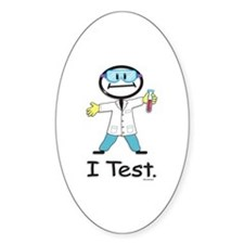 Medical Lab Tech Oval Decal