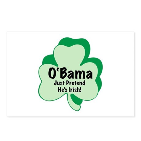 O'Bama: Just Pretend He's Irish Postcards (Package