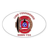 USS Tennessee SSBN 734 Oval Decal