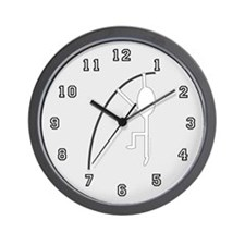 White Pole Vaulter Wall Clock