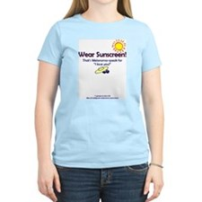 Wear Sunscreen Women's Pink T-Shirt