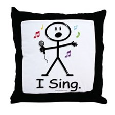 BusyBodies Singer Throw Pillow