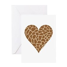I Love Giraffes Greeting Card