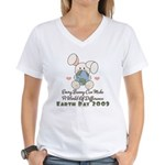 Every Bunny Earth Day Women's V-Neck T-Shirt