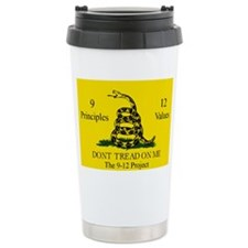 Don't Tread on Me 9-12 Ceramic Travel Mug