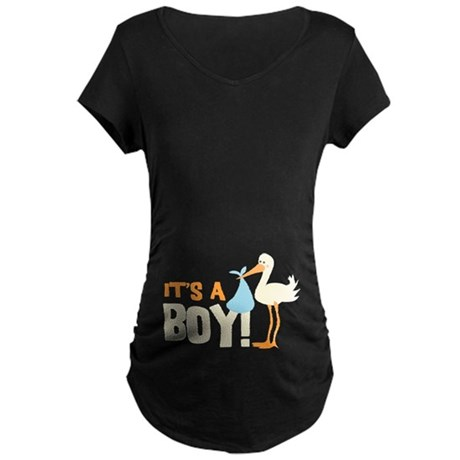 It's a Boy Maternity Dark T-Shirt