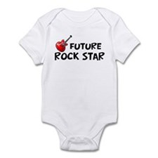 Future Rockstar with guitar-surfer print Body Suit