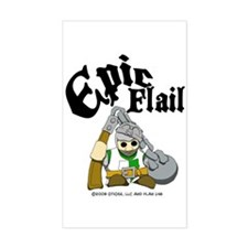 Epic Flail Rectangle Bumper Stickers