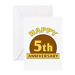 5th Wedding Anniversary Greeting Card