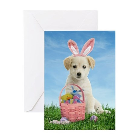 Easter Puppy Greeting Card