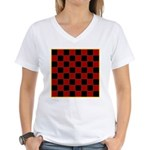 Checkerboard Women's V-Neck T-Shirt