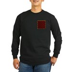 Checkerboard Long Sleeve Dark T-Shirt
