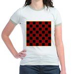 Checkerboard Jr. Ringer T-Shirt