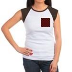 Checkerboard Women's Cap Sleeve T-Shirt