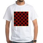 Checkerboard White T-Shirt