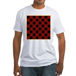 Checkerboard Fitted T-Shirt
