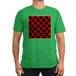 Checkerboard Men's Fitted T-Shirt (dark)