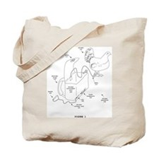 chicken parachute tote bag