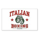 Italian Boxing Rectangle Decal