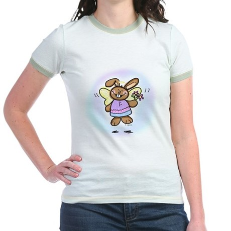Easter Angel Jr. Ringer T-Shirt