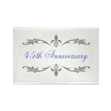 45th Wedding Anniversary Rectangle Magnet