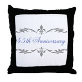 45th Wedding Anniversary Throw Pillow