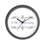 25th Wedding Anniversary Wall Clock