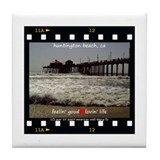 Cute California beaches Tile Coaster