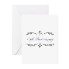 15th Wedding Anniversary Greeting Cards (Pk of 10)