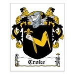 Croke Coat of Arms Small Poster