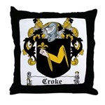 Croke Coat of Arms Throw Pillow