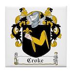 Croke Coat of Arms Tile Coaster