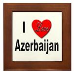 I Love Azerbaijan Framed Tile