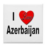 I Love Azerbaijan Tile Coaster