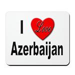 I Love Azerbaijan Mousepad