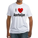 I Love Azerbaijan (Front) Fitted T-Shirt