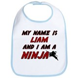 my name is liam and i am a ninja Bib