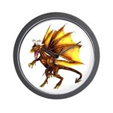 Yellow Dragon Wall Clock