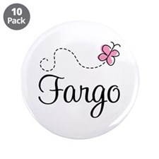 "Pretty Fargo North Dakota 3.5"" Button (10 pack)"