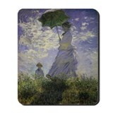 Monet Woman with Parasol Mousepad
