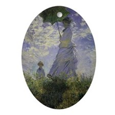 Claude Monet Woman w Parasol Ornament (Oval)