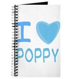 Blue I Heart (Love) Poppy Journal