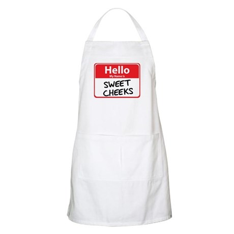 Hello My Name is Sweet Cheeks BBQ Apron